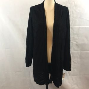 NWT Charter Club Long Black Cardigan